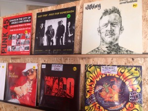 Records on shelf
