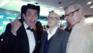 Maynard, Paul Livingston and Richard Saunders at Spin Out movie premiere