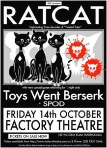 Ratcat 30 years celebration poster