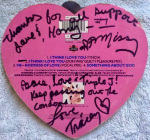 Tracey Bryn, Melissa Belland, signed I Think I Love You CD single