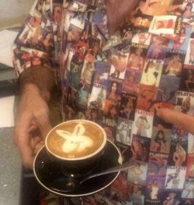 Playboy coffee art at Madame Frou Frou