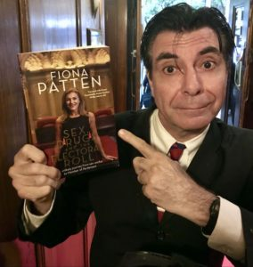 Maynard shows off Fiona Patten's book