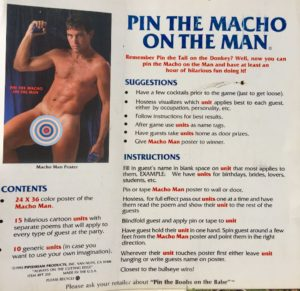 Pin The Macho On The Man game.