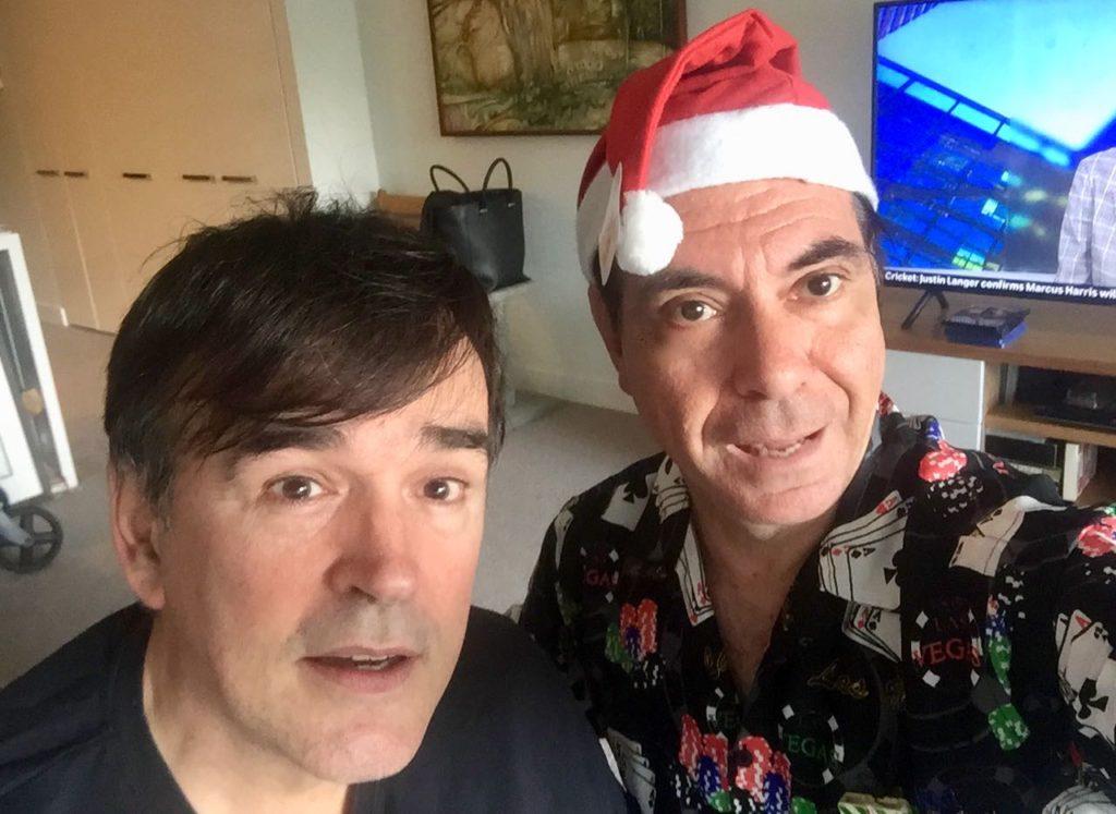 Tim Ferguson & Maynard recording A Very Very Bunga Bunga Xmas Xmas 2018