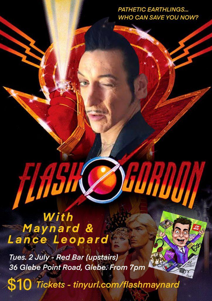 Lance Leopard & Maynard present Flash Gordon movie poster