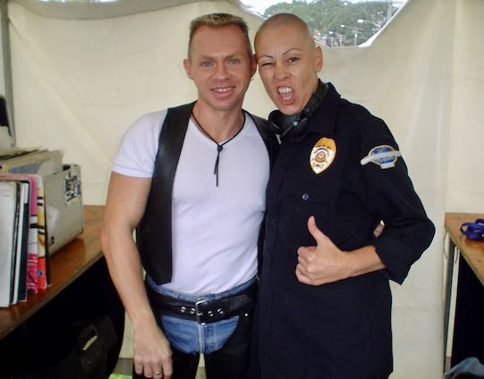 DJ Mark Alsop & DJ Sandi Hotrod Sydney Leather Pride fair day 2004