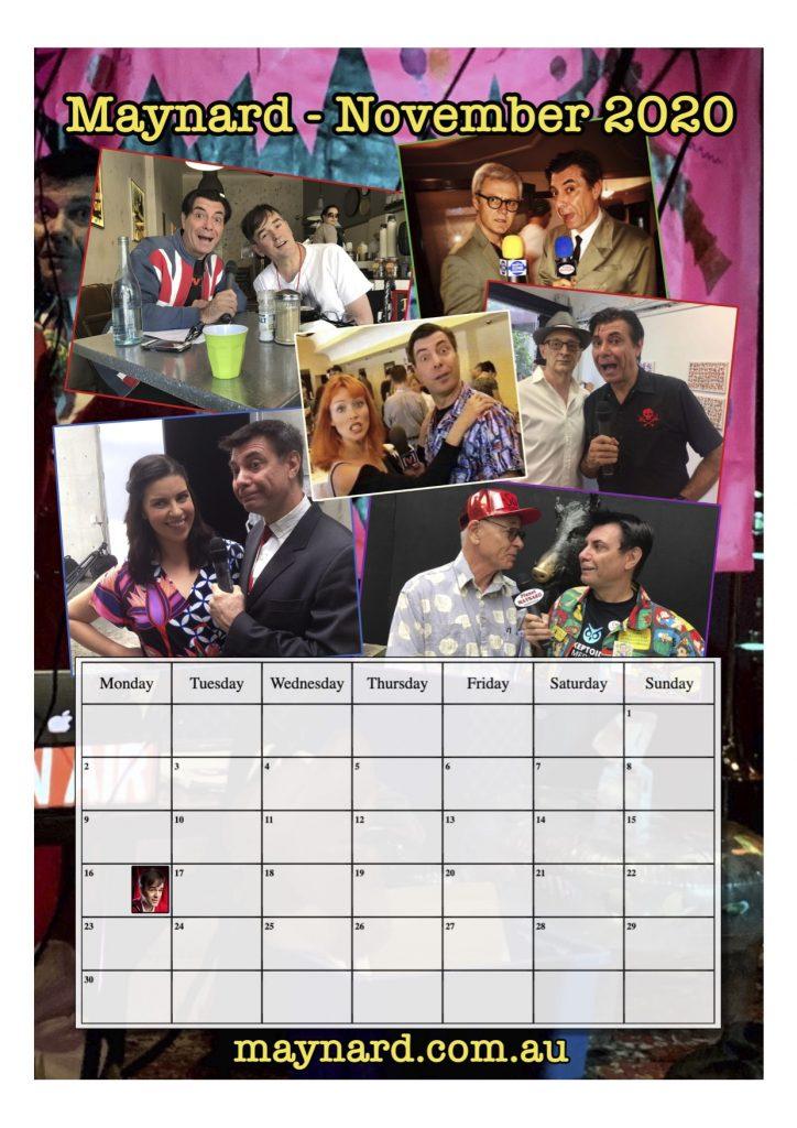 November page Maynard 2020 calendar