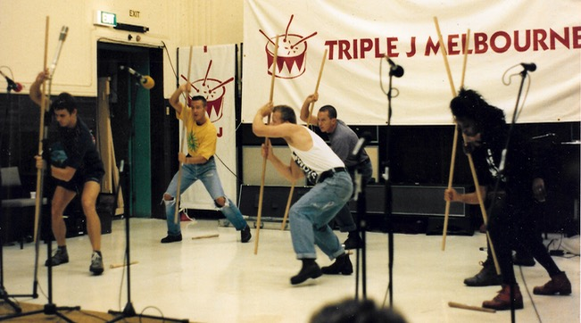 Stomp perform on Sunday Afternoon Fever Melbourne Comedy Festival 1992