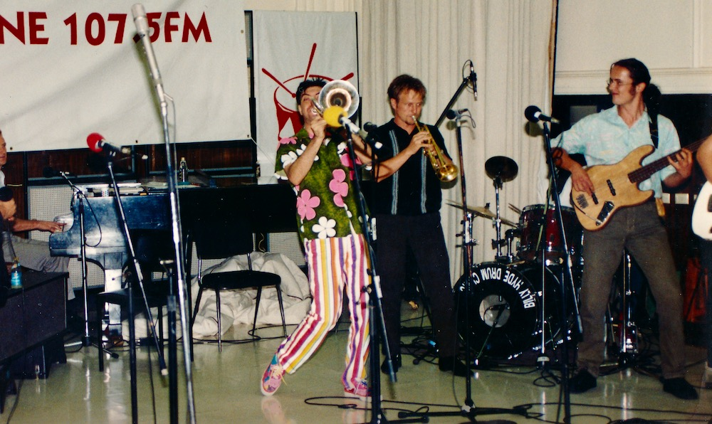 Maynard plays trombone again with Bachelors From Prague. Triple J, Melbourne Comedy Festival 1992