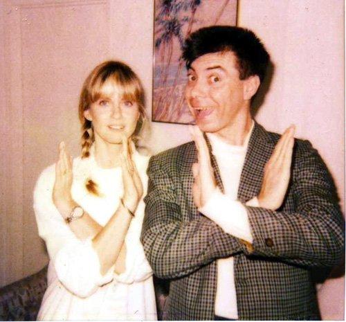 Olivia newton John with Maynard 1990
