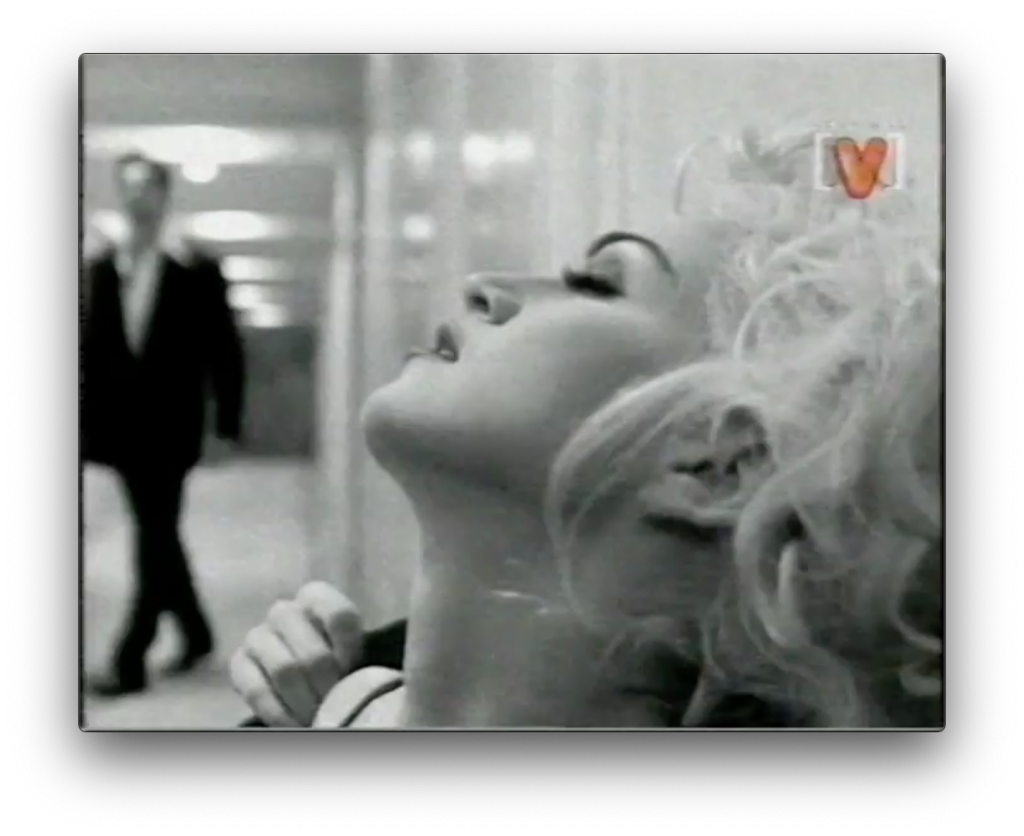 Madonna in hallway on Maynard rude show video special