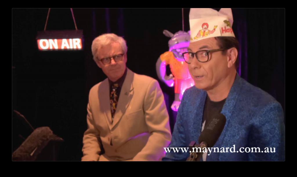 Maynard wears his happy hat during Maynard's Mastermind quiz.
