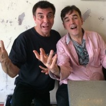 Maynard with Tim Ferguson working on Bunga Bunga