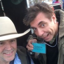 Tim Ferguson & Maynard on set of Spin Out